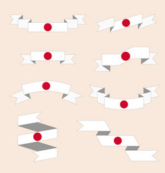 Set of ribbons or banners with japan flag vector