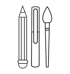 stationery icon outline line style vector image vector image