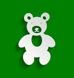Teddy bear sign paper vector