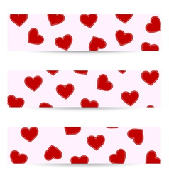 Valentine seamless banners vector image vector image