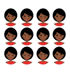 Woman facial expressions vector image