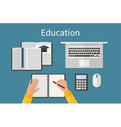 Workplace Endless education Training and online vector image vector image