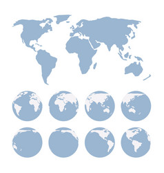 world map projection showing surface of the earth vector image
