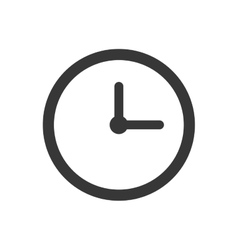 Clock time traditional circle icon graphic vector