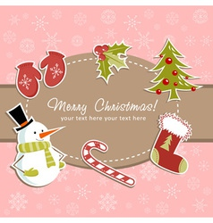 Beautiful Christmas card with vector image