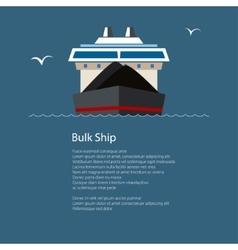 Dry cargo ship at sea poster brochure design vector