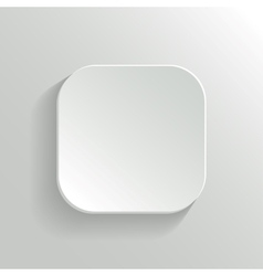 White blank button - app icon template vector