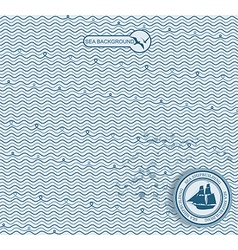 Sea wave hand-drawn pattern vector image