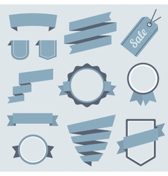Stickers and badges set 9 flat style vector