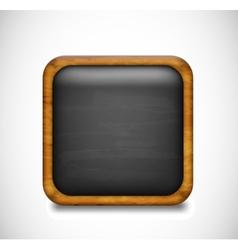 Black app icon vector image