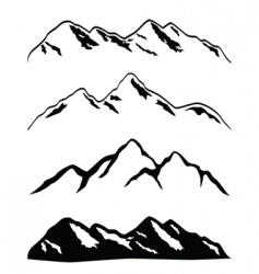 mountain ranges vector image