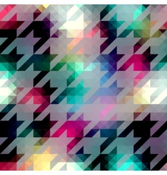 Houndstooth pattern on abstract geometric vector