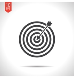Target with dart icon eps10 vector