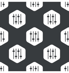Black hexagon faders pattern vector