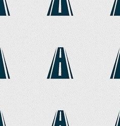 Road icon sign seamless abstract background with vector