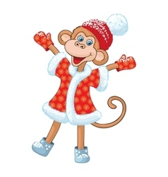 Comical monkey new year symbol vector
