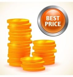 Sign best price with money isolated vector