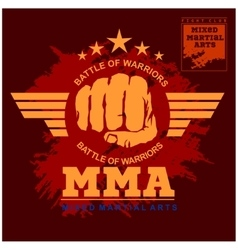 Fight club mma mixed martial arts vector