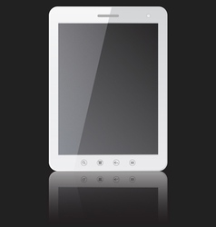 White tablet pc computer vector