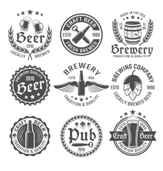 Beer Emblem Set vector image