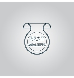 Best quality icon badge label or sticker vector