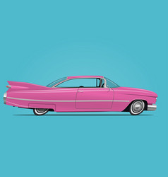 cartoon styled of pink car vector image vector image