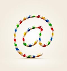 Circus abc email symbol vector