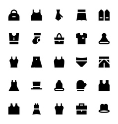 Clothes apparel and garments icons 2 vector