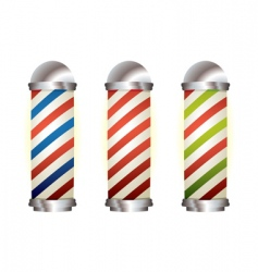 Collection barbers pole vector