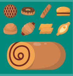 Cookie cakes isolated tasty snack delicious vector