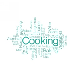 Cooking tag cloud vector