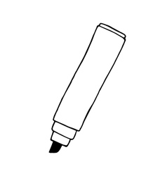 Doodle marker pen hand drawn vector image vector image