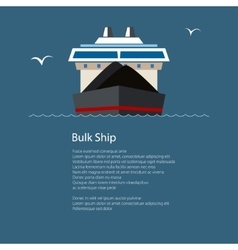 Dry cargo ship at sea poster brochure design vector