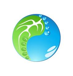 Eco footprint in tai chi form vector
