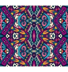 Ethnic geometric colorful seamless tribal pattern vector