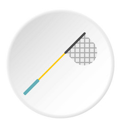 Fishing net icon circle vector