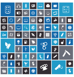 Flat design icons for technology and energy vector