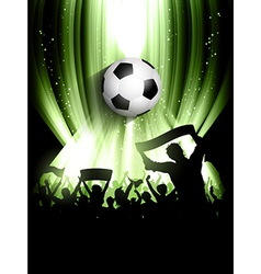 football crowd background vector image vector image