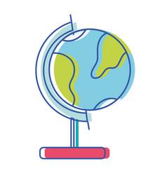 Global earth planet desk design vector