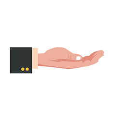 hand business man hold concept image vector image vector image