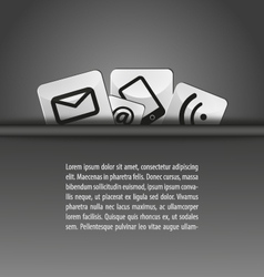 Icons in a pocket document template b-w vector