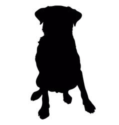 Labrador Retriever Silhouette vector image vector image