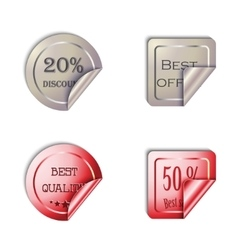 Metal stickers set on a white background vector