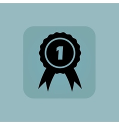 Pale blue 1st place icon vector