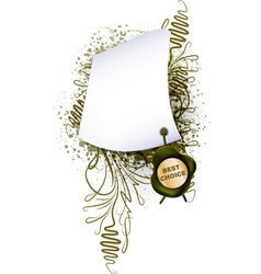 parchment with the seal on plant background vector image