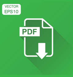 Pdf format download icon business concept pdf vector