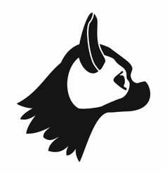 Pug dog icon simple style vector