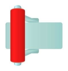 Red toggle switch icon cartoon style vector image vector image