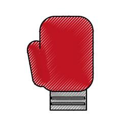 Scribble boxin glove cartoon vector