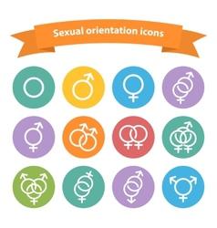 Sexual orientation white web iconssymbolsign vector